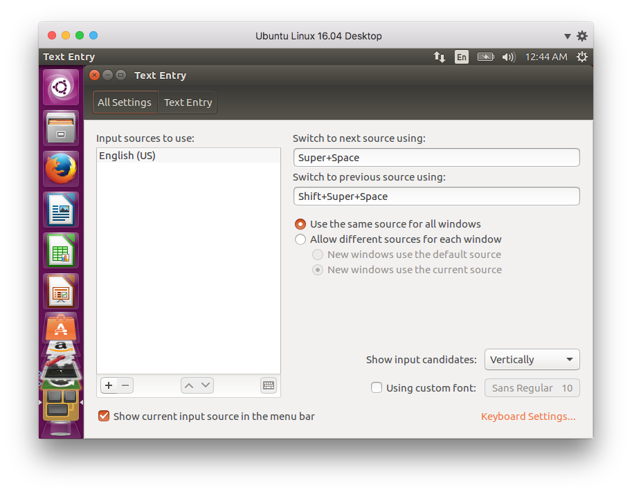 Enable Keyboards In Ubuntu