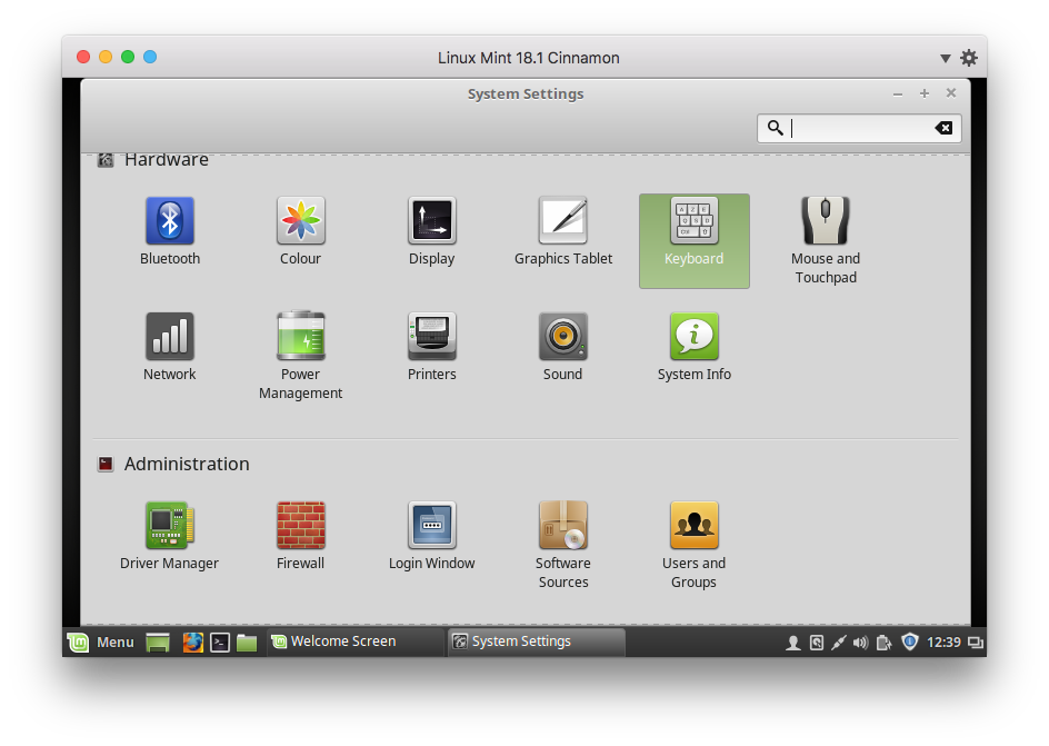 Enable Keyboards In Linux Mint
