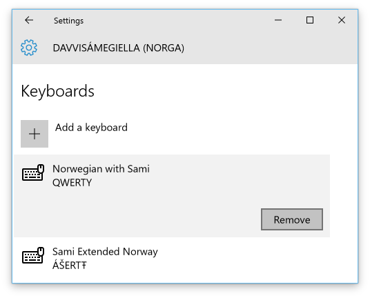 Installing, configuring and switching keyboards in Windows 10